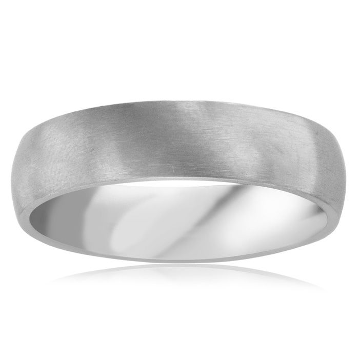 6 MM Brushed Finish Mens Titanium Ring Weddings Band by SuperJeweler