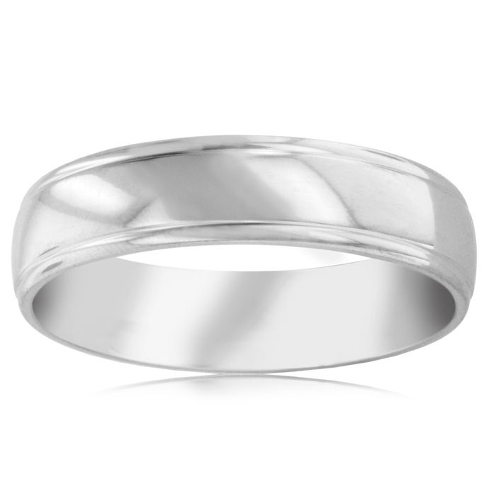 6 MM Polished Men's Titanium Ring Wedding Band