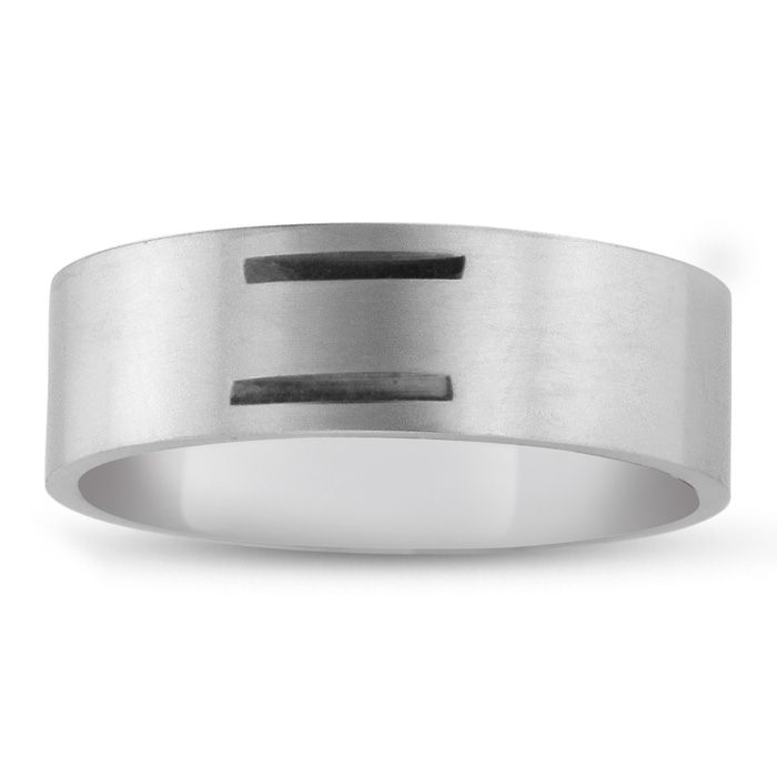 8 MM Brushed Finish Equality Men's Titanium Ring Wedding Band
