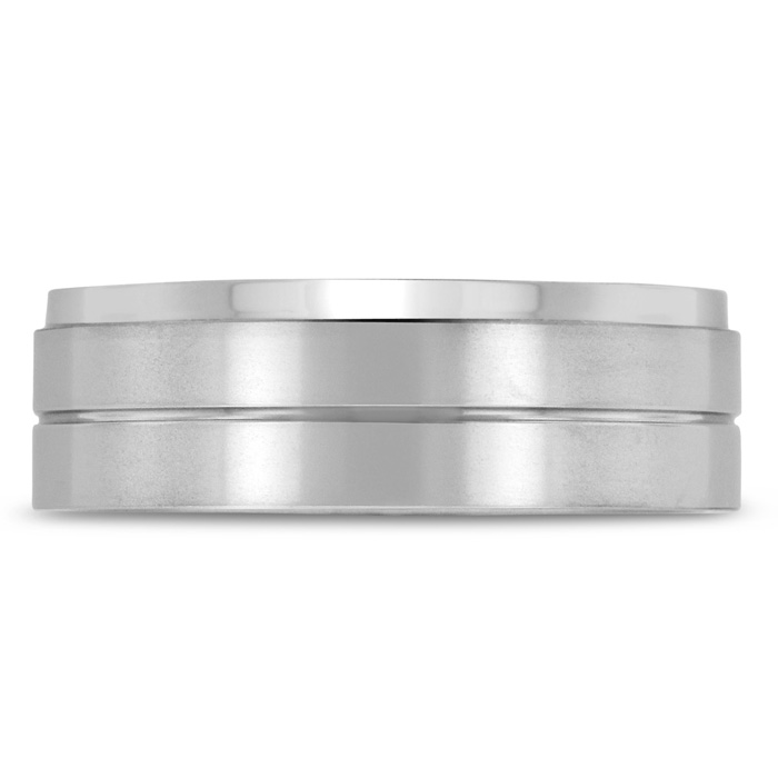 8 MM Brushed Finish Mens Titanium Ring Weddings Band by SuperJeweler