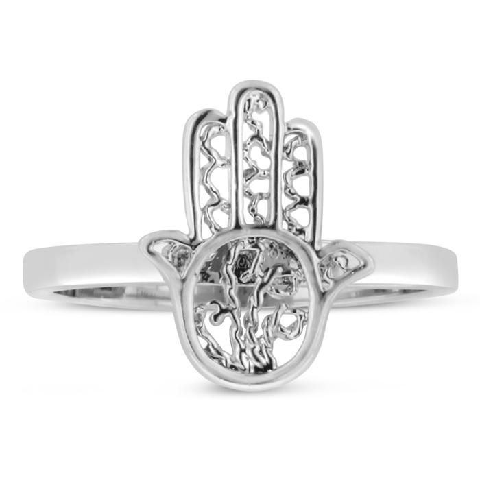 Dainty Hamsa Ring by SuperJeweler