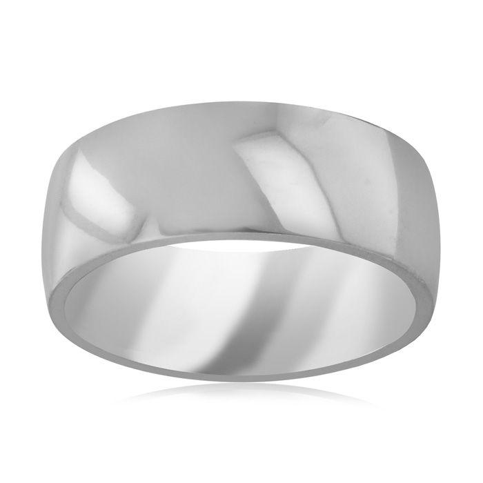 8 MM Polished Classic Mens Titanium Ring Wedding Band by SuperJeweler