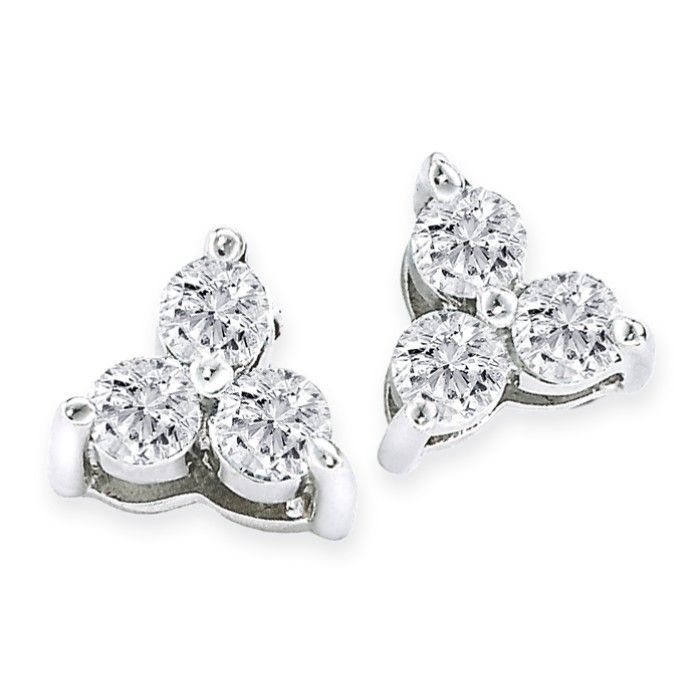 Diamond Triangle Earrings Best All Earring Photos Kamiliol