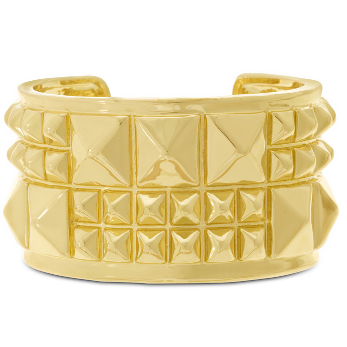 Gold Spike Cuff Bracelet by Passiana