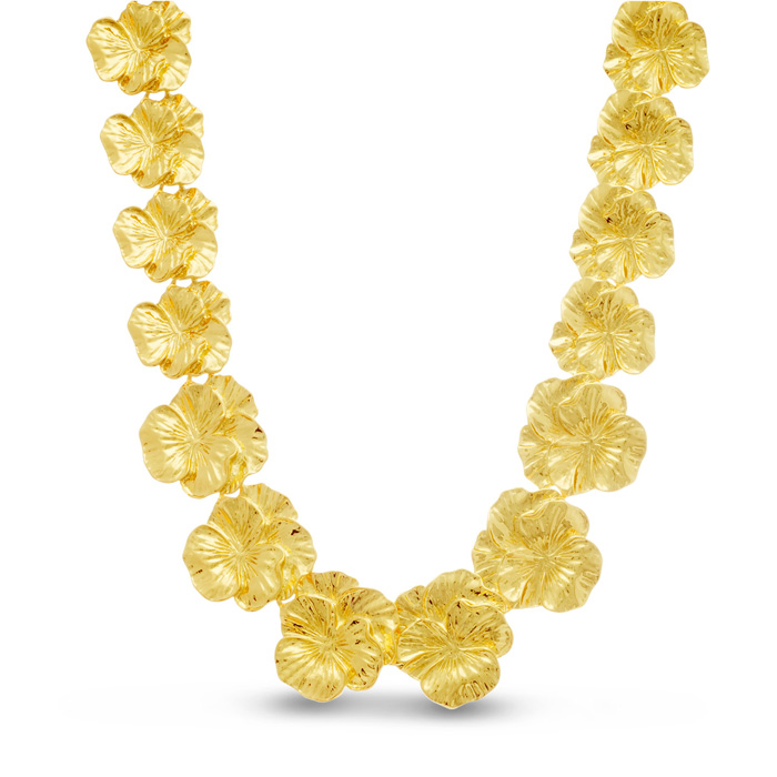 Gold Flower Necklace by Passiana