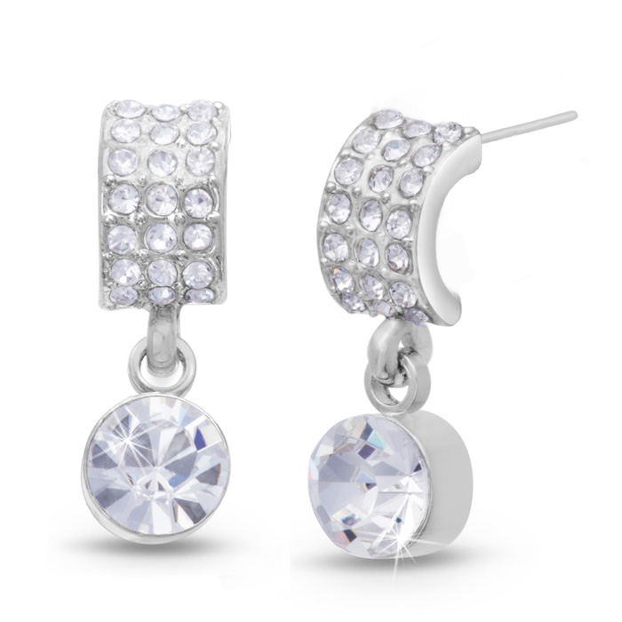Elegant Swarovski Elements Crystal Drop Earrings by SuperJeweler