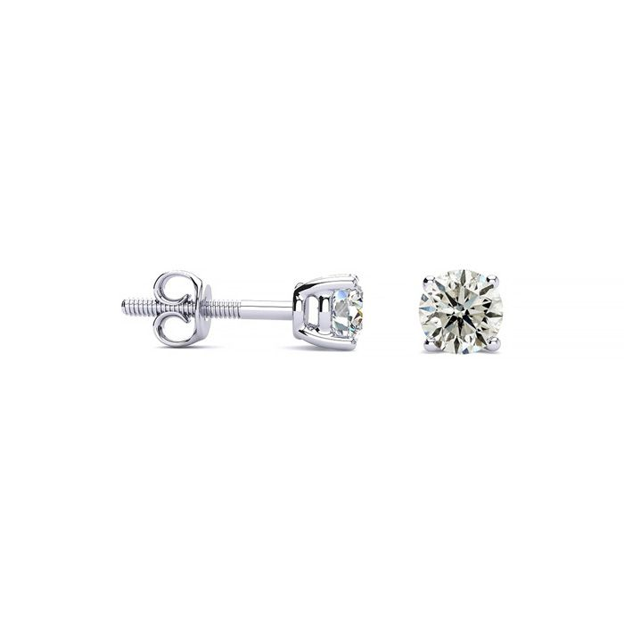 1/5 Carat Diamond Stud Earrings in 14k White Gold, J/K by SuperJe