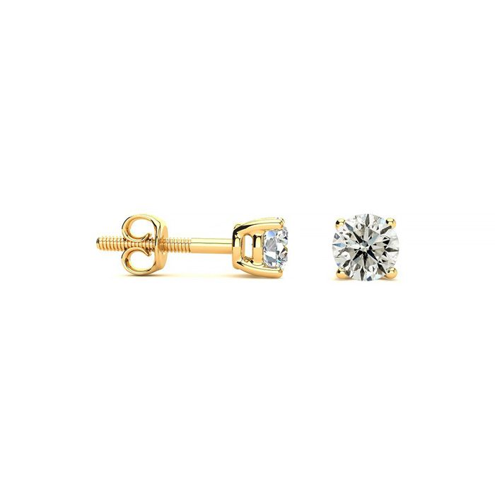 1/5 Carat Diamond Stud Earrings in 14k Yellow Gold, J/K by SuperJ