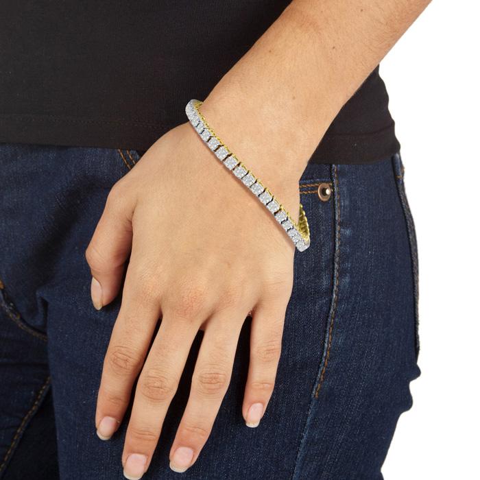 5ct Diamond Tennis Bracelet In 14 Karat Yellow Gold Item Number Jwl 13016