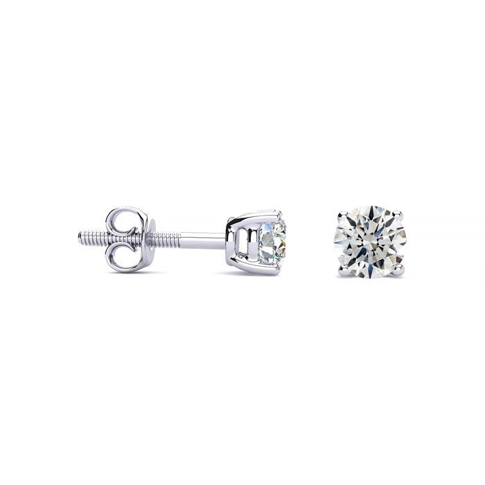 Platinum 1 2ct Diamond Stud Earrings G Color Si1 Clarity Superjeweler