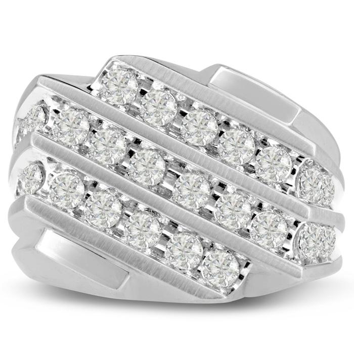 Men's 1.25 Carat Diamond Wedding Band in White Gold