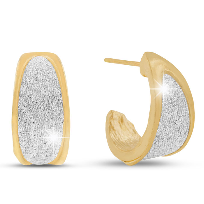 Elegant Swarovski Dust Huggie Hoop Earrings by SuperJeweler