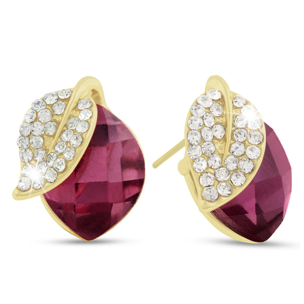 Pink Cherry Swarovski Elements Stud Earrings, Pushbacks by SuperJeweler