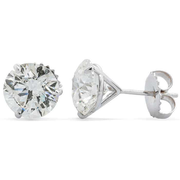 4 Carat Diamond White Gold Martini-Set Diamond White Gold Stud Ea