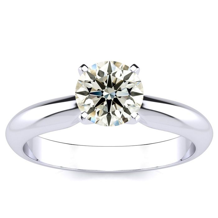1 Carat Diamond Solitaire Engagement Ring Crafted in Solid White Gold,  by SuperJeweler