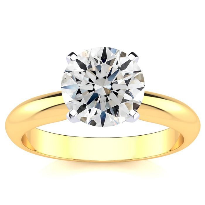 2 Carat Diamond Solitaire Engagement Ring in 14K Yellow Gold (3 g) (H-I, SI2 Clarity Enhanced) by SuperJeweler