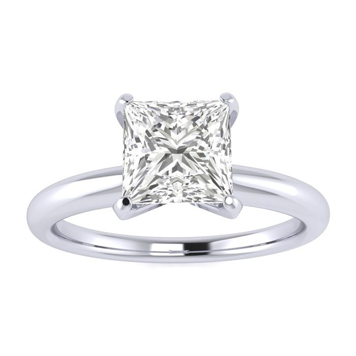 1ct Princess Cut Diamond Solitaire Engagement Ring