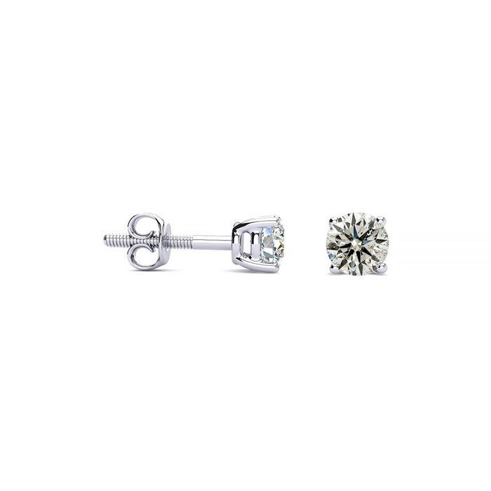 1/4 Carat Natural Diamond Stud Earrings in 14k White Gold, K/L by SuperJeweler