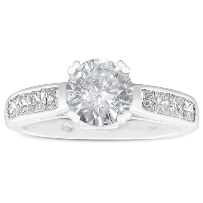 2 Carat Fine Diamond Engagement Ring in 14K White Gold, G/H by SuperJeweler