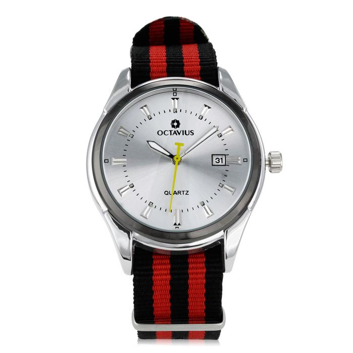 Octavius Men's Regatta Watch - Black and Red ShopFest Money Saver