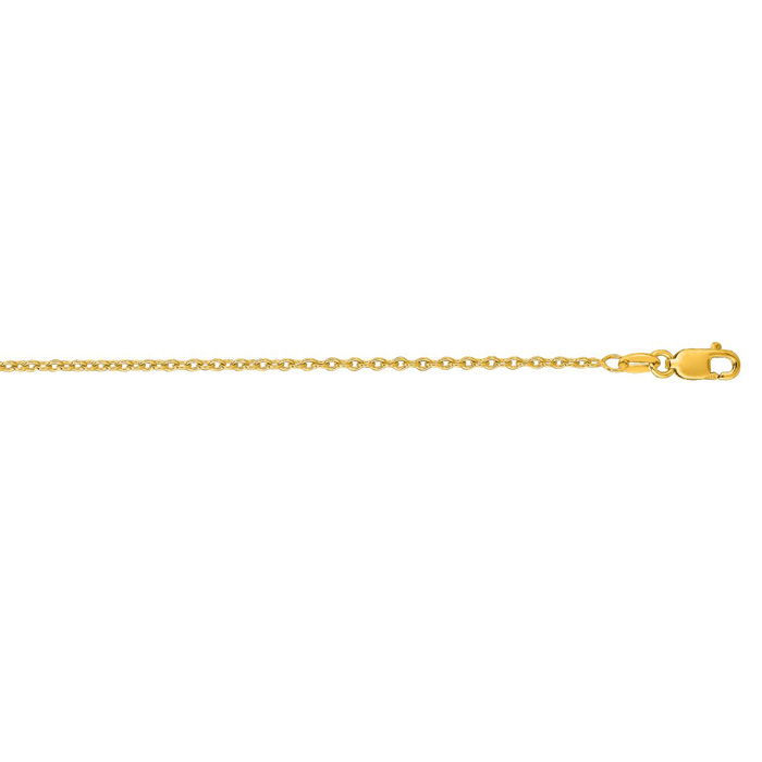 Round Cable Chain Necklace 14k Yellow 18 inches by Royal Chain