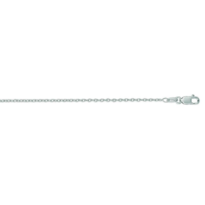 Round Cable Chain Necklace 14k White Gold 18 inches by Royal Chai