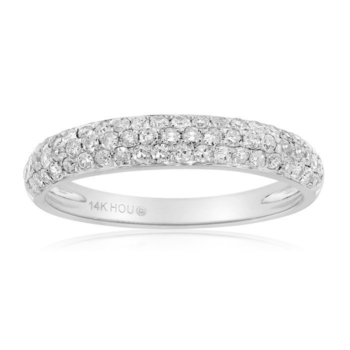 pave wedding jewelry bands diamond micro eternity band champagne and engagement