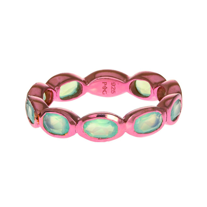 Phillip Gavriel Organic Eternity Ring Aqua Chalcedony by Royal Chain