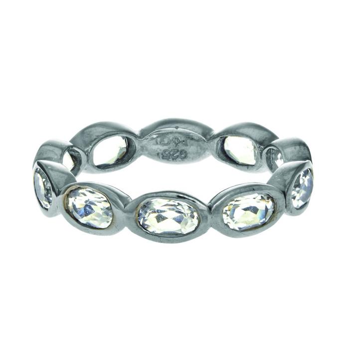 Phillip Gavriel Organic Eternity Ring Rock Crystal by Royal Chain
