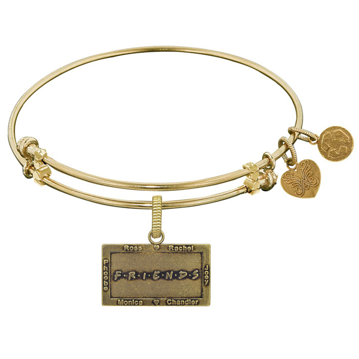 Image of Angelica Bracelet Friends ™ Friends Logo Yellow Tone