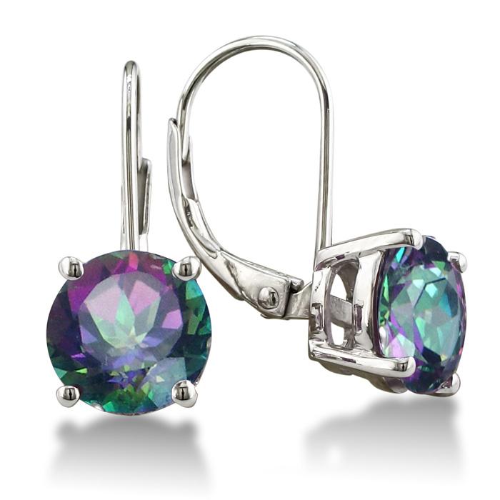 5 Carat Mystic Quartz Drop Earrings in Sterling Silver by SuperJeweler