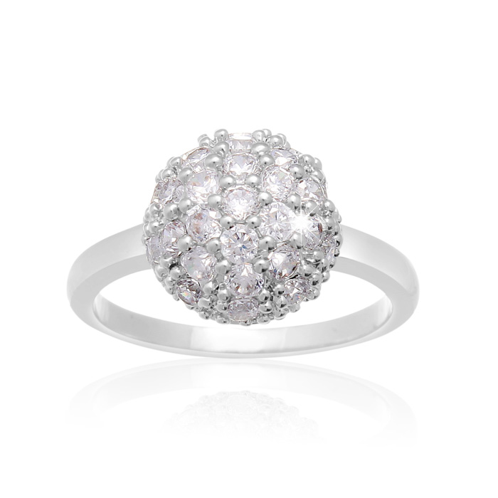 Crystal Pave Ball Ring by SuperJeweler