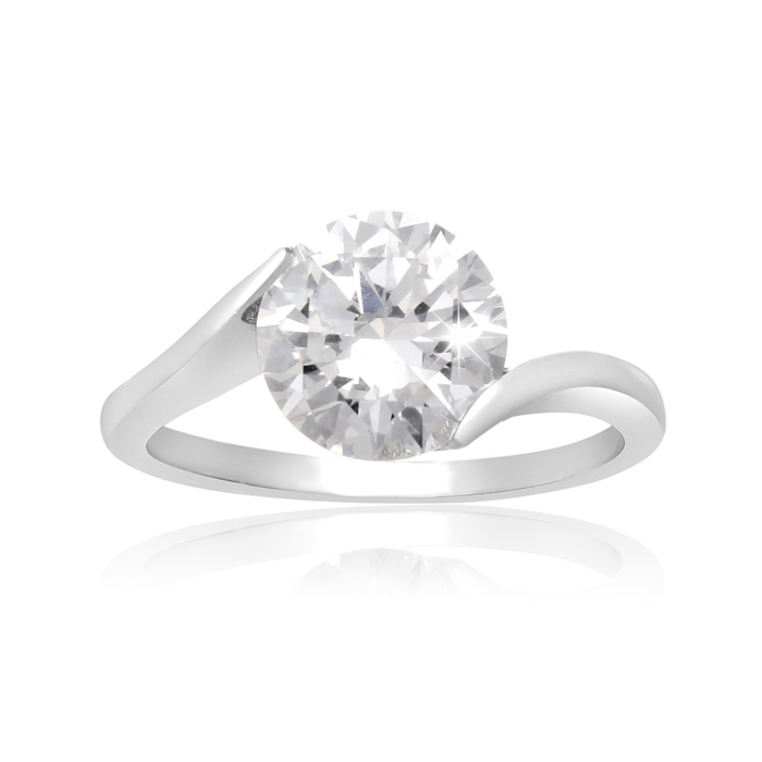 2 Carat Crystal Solitaire Engagement Ring by SuperJeweler