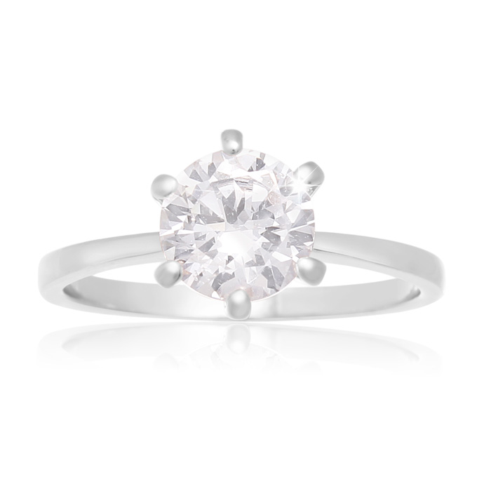 1.5 Carat 6 Prong Crystal Engagement Ring by SuperJeweler