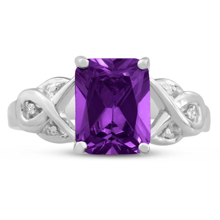 2 3/4 Carat Amethyst & Diamond Ring, J/K by SuperJeweler