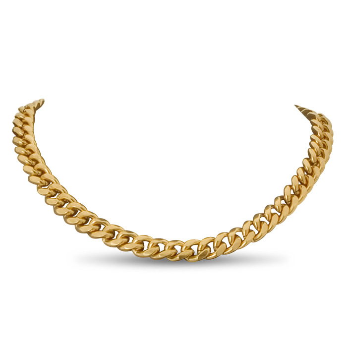 Gold Classic Link Necklace by Passiana