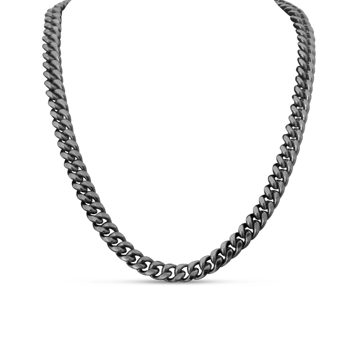 Gunmetal Classic Link Necklace by Passiana