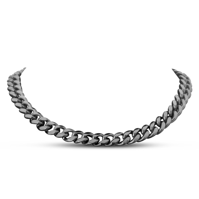 Gunmetal Standard Link Necklace by Passiana
