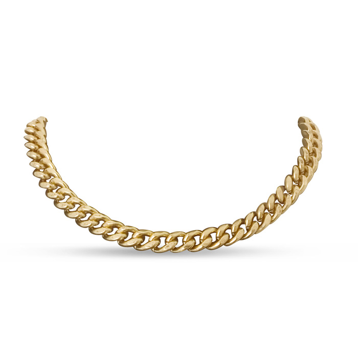Antique Gold Standard Link Necklace by Passiana
