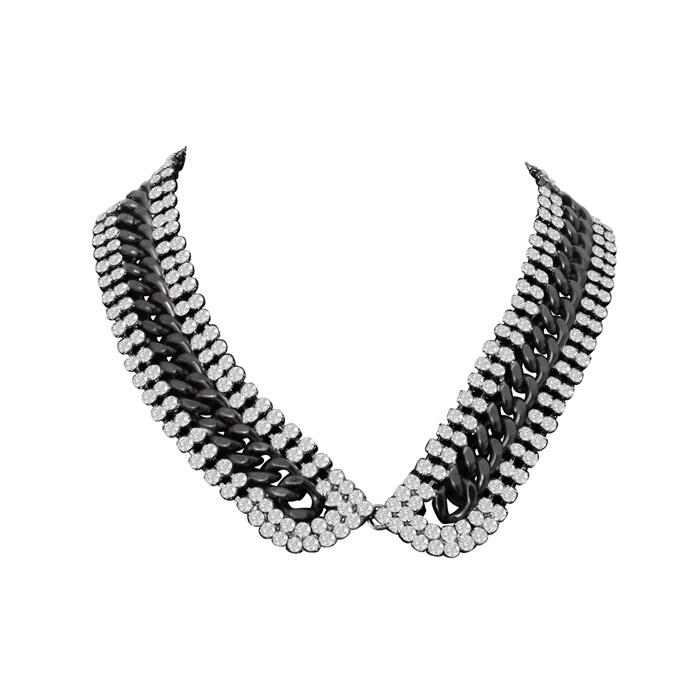 Crystal Link Collar Necklace by Passiana