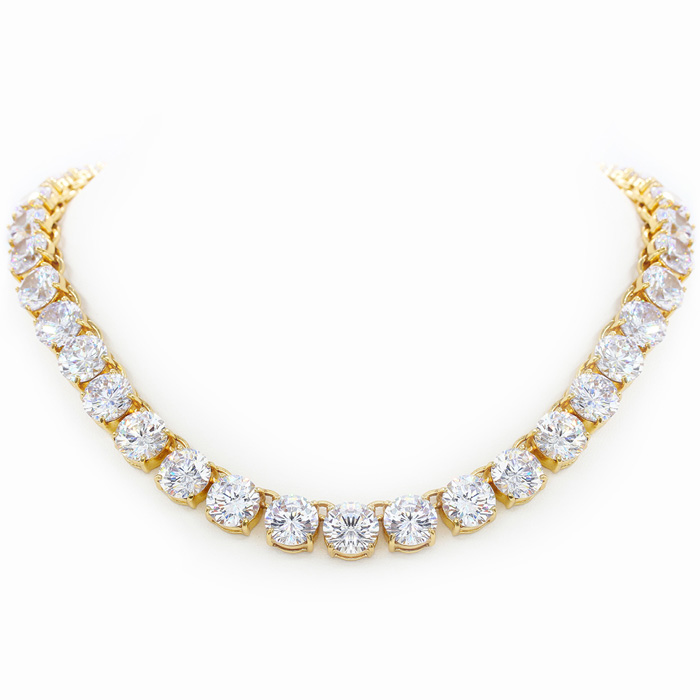 Fine Clear Crystal Line Necklace, 16 Inches, The Countess Collect