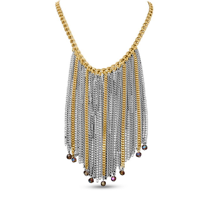 Two Tone Strand Necklace by Passiana