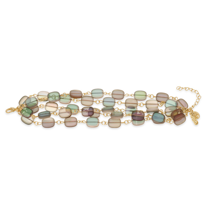 Iridescent Strand Bracelet by Passiana