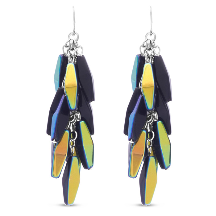 Midnight Dangle Earrings by Passiana