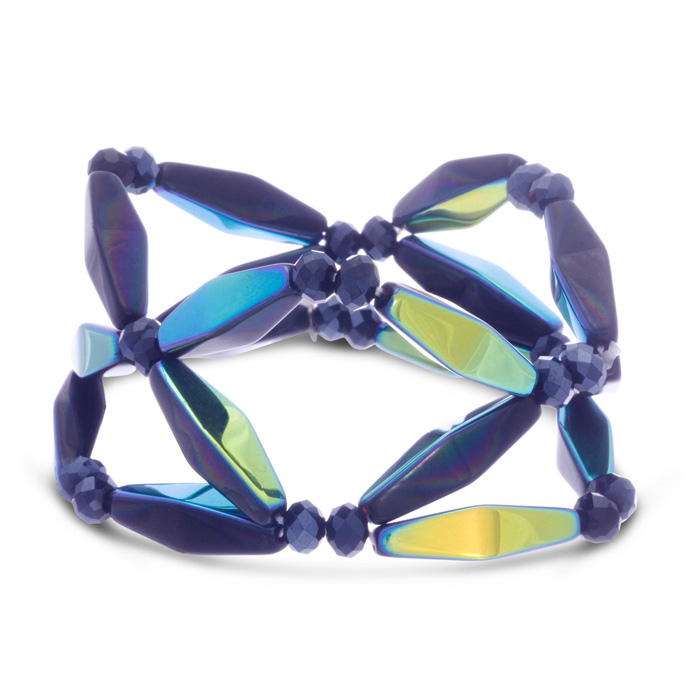 Midnight Geometric Bracelet by Passiana
