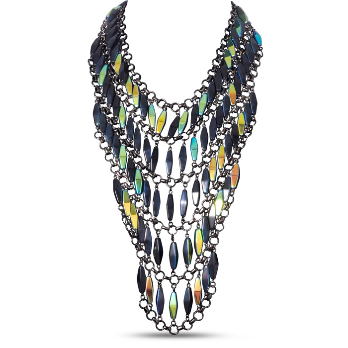 Midnight Statement Bib Necklace by Passiana