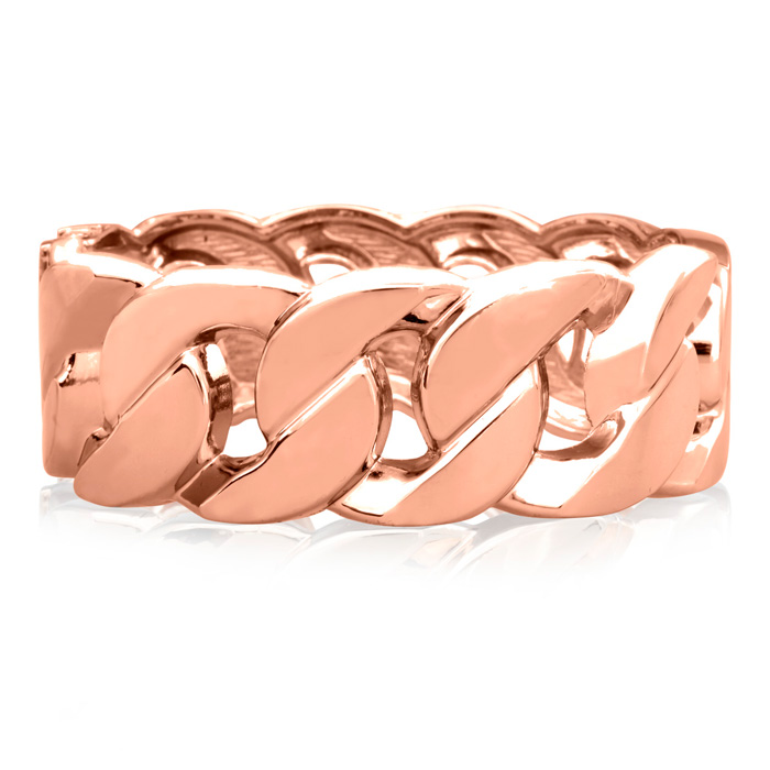 Chain Rose Cuff Bracelet, 16 Inch by Passiana