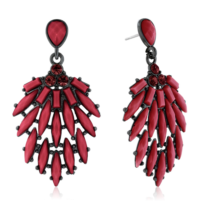 Passiana Casing Crystal Earrings, Marsala