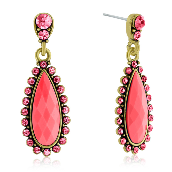 Passiana Drop Crystal Earrings,