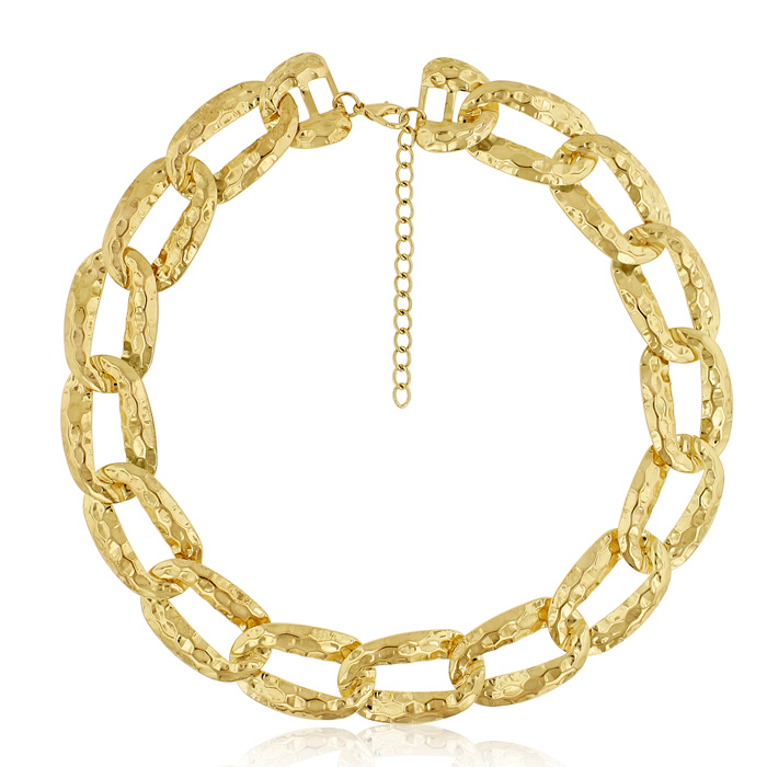 Gold Link Chain Necklace, 16 Inches by SuperJeweler